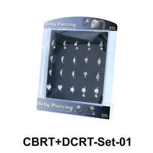 20 Belly Piercing Rings Set CBRT+DCRT-Set-01