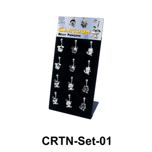 12 Cartoon Belly Piercing Set CRTN-Set-01