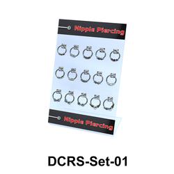 15 Nipple Piercing Rings Set DCRS-Set-01
