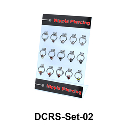 15 Nipple Piercing Rings Set DCRS-Set-02