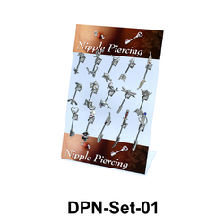 15 Double Nipple Piercing Set DPN-Set-01