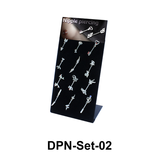 12 Double Nipple Piercing Set DPN-Set-02