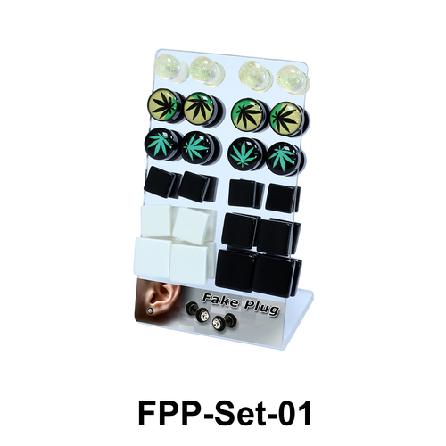 24 Fake Plugs Set FPP-Set-01