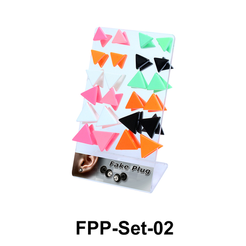 24  Triangle Fake Plugs Set FPP-Set-02