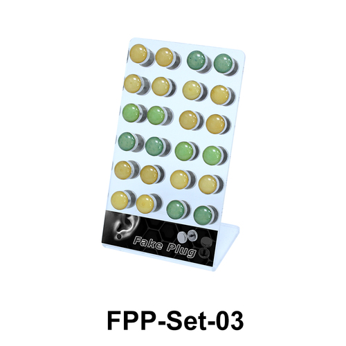 24 Fake Plugs Set FPP-Set-03