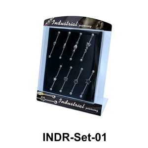 8 Industrial Piercing Set INDR-Set-01