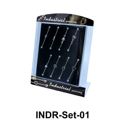 8 Industrial Piercing Set INDR-Set-01