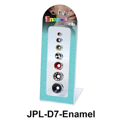 Empty 7 Holes Tunnels Display JPL-D7 Enamel