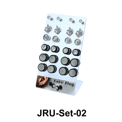24 Fake Plugs Set JRU-Set-02