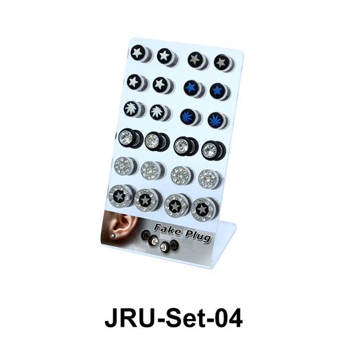 24 Fake Plugs Set JRU-Set-04