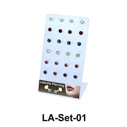 24 Labret Push-in Set LA-Set-01