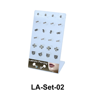 24 Labret Push-in Set LA-Set-02