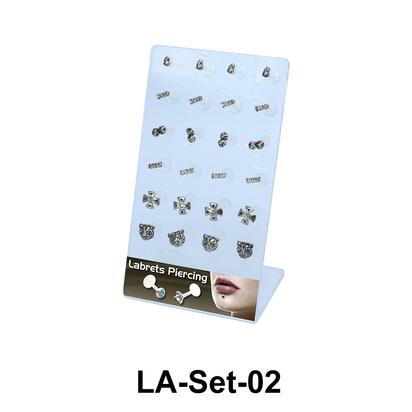 24 Labret Push-in Set LA-Set-02