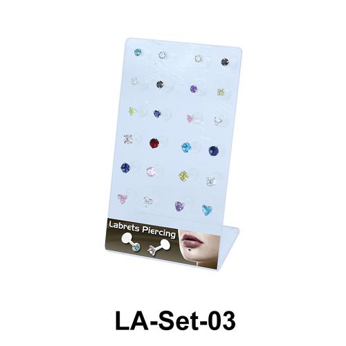 24 Labret Push-in Set LA-Set-03