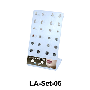 24 Labret Push-in Set LA-Set-06