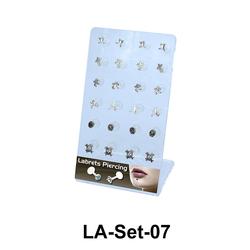 24 Labret Push-in Set LA-Set-07
