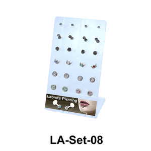 24 Labret Push-in Set LA-Set-08