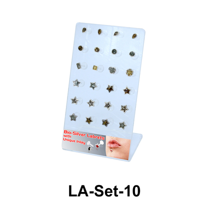 24 Enamel Labret Push-in Set LA-Set-10
