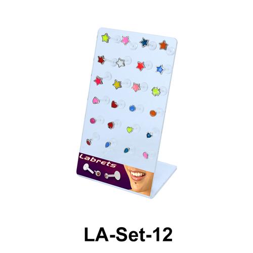 24 Labret Push-in Set LA-Set-12