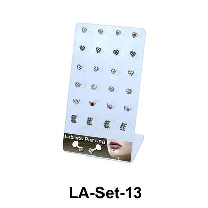 24 Labret Push-in Set LA-Set-13