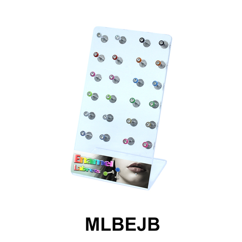 24 Labret Enamel Jewelled Balls Set MLBEJB-Set-01