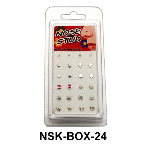 Empty Nose Stud Box Set NSK-BOX-24