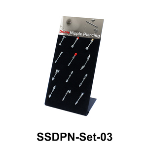 12 Double Nipple Piercing SSDPN-Set-03