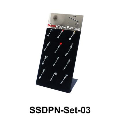 12 Double Nipple Piercing SSDPN-Set-03