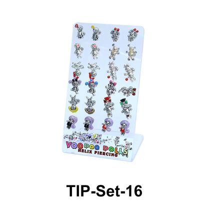 24 Voodoo Helix Ear Piercing Set TIP-Set-16