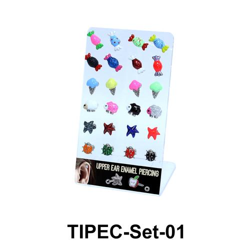 24 Enamel Helix Ear Piercing Set TIPEC-Set-01