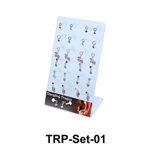 24 Dangling Tragus Piercing Set TRP-Set-01