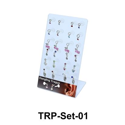 24 Dangling Tragus Piercing Set TRP-Set-01