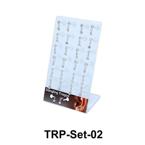 24 Dangling Tragus Piercing Set TRP-Set-02