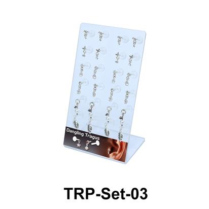24 Dangling Tragus Piercing Set TRP-Set-03