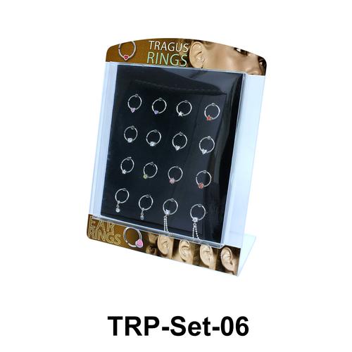 16 Tragus Piercing Rings Set TRP-Set-06