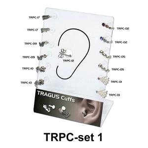 13 Tragus Piercing Set TRPC-SET-1